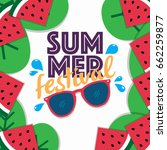 summer sale background layout... | Shutterstock .eps vector #662259877