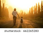 mother and little asian toddler ... | Shutterstock . vector #662265283