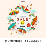 autumn sale. stylized... | Shutterstock .eps vector #662266837