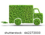 electric car concept in green...   Shutterstock . vector #662272033