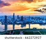 ho chi minh city  aerial view | Shutterstock . vector #662272927