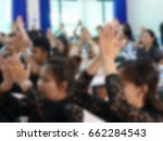 blurred asian people... | Shutterstock . vector #662284543