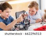 interested smiling male... | Shutterstock . vector #662296513