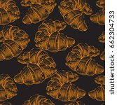 hand drawn seamless pattern... | Shutterstock .eps vector #662304733