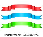 three colored ribbons... | Shutterstock .eps vector #662309893