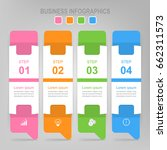 infographic template of four... | Shutterstock .eps vector #662311573