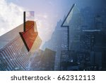trading financial graph on city ...   Shutterstock . vector #662312113