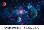 nebula and galaxies in space... | Shutterstock . vector #662322277