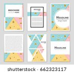 abstract vector layout... | Shutterstock .eps vector #662323117