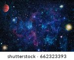 nebula and galaxies in space... | Shutterstock . vector #662323393