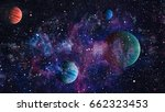 nebula and galaxies in space... | Shutterstock . vector #662323453