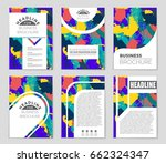 abstract vector layout... | Shutterstock .eps vector #662324347