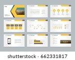 abstract presentation slide... | Shutterstock .eps vector #662331817