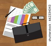 financial and economic stable... | Shutterstock .eps vector #662334043