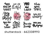 you are amazing.  you are... | Shutterstock .eps vector #662338993