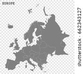 high quality map of the europe... | Shutterstock .eps vector #662343127