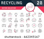 set vector line icons in flat...   Shutterstock .eps vector #662345167