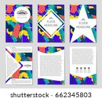 abstract vector layout... | Shutterstock .eps vector #662345803