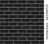 black old brick seamless...   Shutterstock .eps vector #662346913