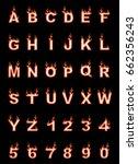 fire alphabet  cartoon style ...   Shutterstock . vector #662356243