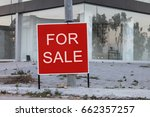 a abandoned home is advertising ... | Shutterstock . vector #662357257