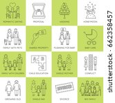 thin line icons set  vector... | Shutterstock .eps vector #662358457