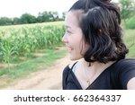 selfie thai woman  self portrait | Shutterstock . vector #662364337