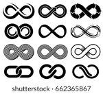 infinity vector symbols. mobius ... | Shutterstock .eps vector #662365867