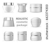 3d white realistic blank... | Shutterstock .eps vector #662374303