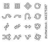 arrow icons set. line style... | Shutterstock .eps vector #662375287