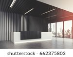 side view of a white and black... | Shutterstock . vector #662375803