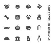 pet shop icons | Shutterstock .eps vector #662381893