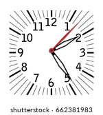 simple black and white clock... | Shutterstock .eps vector #662381983