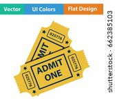 cinema tickets icon. flat color ...