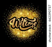 "hand sketched ""welcome""... 