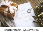 will you marry me proposing... | Shutterstock . vector #662395843