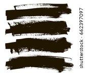 grunge banner set. black copy... | Shutterstock .eps vector #662397097