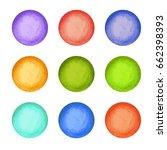 colorful watercolor vector... | Shutterstock .eps vector #662398393