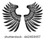 eagle bird or angel wings pair... | Shutterstock .eps vector #662403457