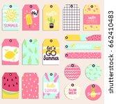 super summer seasonal sale... | Shutterstock .eps vector #662410483