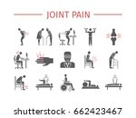 joint pain. icons set. vector... | Shutterstock .eps vector #662423467