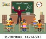 chemistry lesson classroom... | Shutterstock .eps vector #662427367