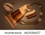 luxury cosmetic bottle package... | Shutterstock .eps vector #662436427