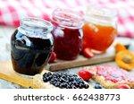Three Jars Of Fruit Jam  ...