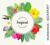 tropical vector illustration | Shutterstock .eps vector #662439397