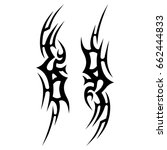 tribal tattoo art designs.... | Shutterstock .eps vector #662444833