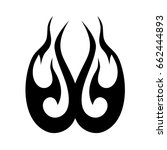 tribal tattoo art designs.... | Shutterstock .eps vector #662444893
