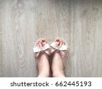 female feet and legs with... | Shutterstock . vector #662445193