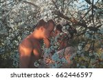couple in love. portrait happy... | Shutterstock . vector #662446597