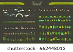 vector set of forest  park and... | Shutterstock .eps vector #662448013